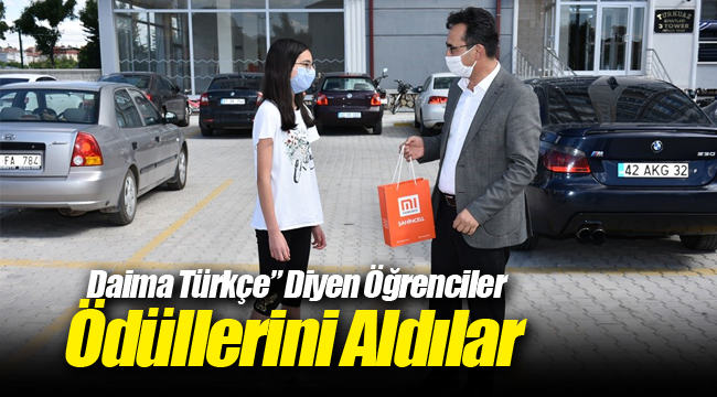 Daima Türkçe Yarışmasının Dereceye Giren Öğrencileri Ödüllendirildi