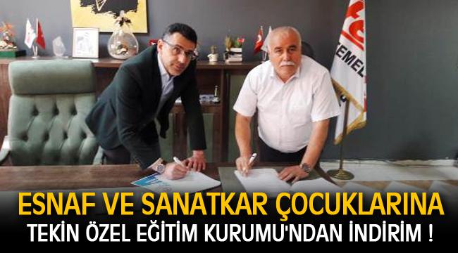 ESNAF VE SANATKAR ÇOCUKLARINA TEKİN ÖZEL EĞİTİM KURUMU'NDAN İNDİRİM !