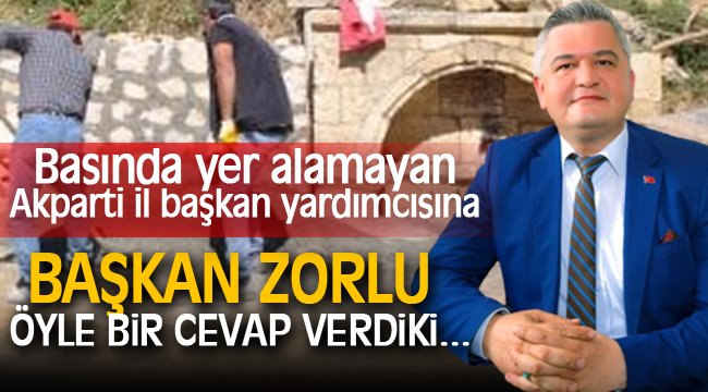 BAŞKAN ZORLU ÖYLE BİR CEVAP VERDİ Kİ...