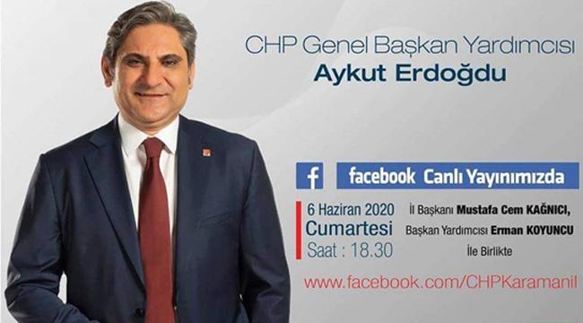 Chp il başkanlığından canlı yayına davet