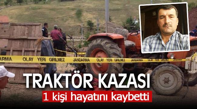 Karaman'da Traktör Devrildi 1 Ölü