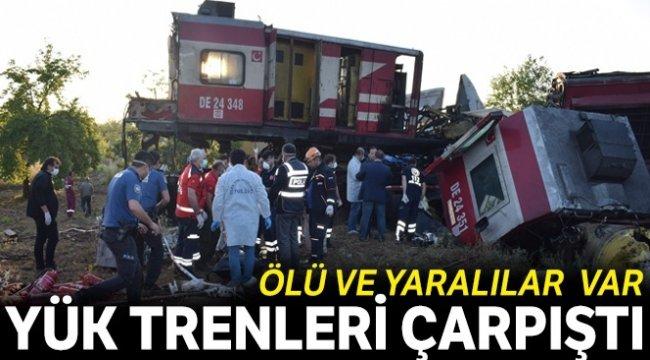 Malatya'da iki yük treni çarpıştı, ölü ve yaralılar var: 1 ölü, 4 yaralı