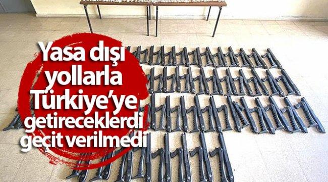 Yasa dışı yollarla Türkiye'ye getireceklerdi, geçit verilmedi