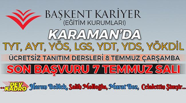 Başkent Kariyer Eğitim Kurumları Karaman'da