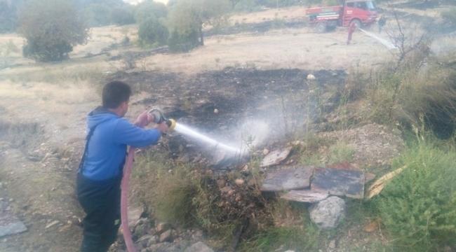 Çamlıca köyünde trafo yangını