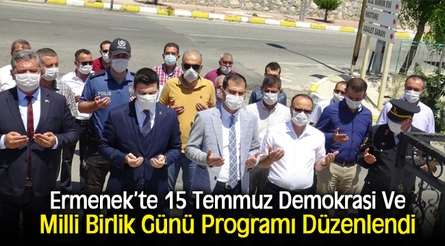 -  Ermenek'te 15 Temmuz Demokrasi Ve Milli Birlik Günü Programı Düzenlendi