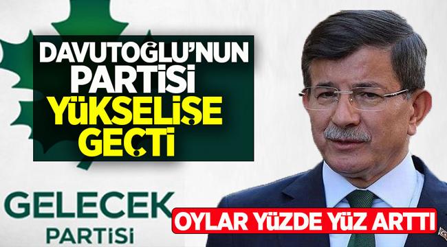 Davutoğlu'nun partisi yükselişe geçti