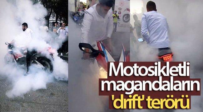 İstanbul'da motosikletli magandaların 'drift' terörü kamerada