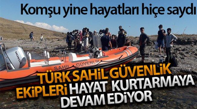 Türk karasularına geri itilen 25 düzensiz göçmen kurtarıldı