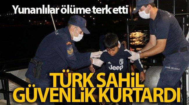 Yunanların ölüme terk ettiği 125 göçmeni Türk Sahil Güvenlik ekipleri kurtardı