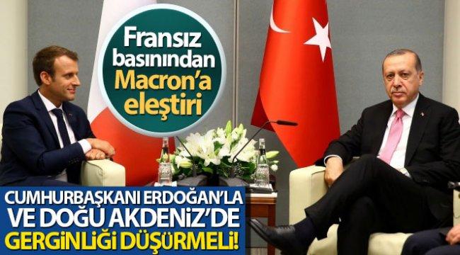 Fransız L'Opinion gazetesi: 'Macron, Erdoğan'la ve Doğu Akdeniz'de gerginliği düşürmeli'