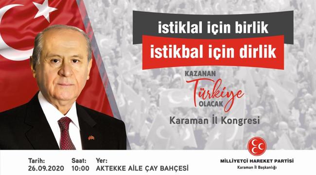 MHP'nin Karaman İl Teşkilatı kongre tarihi belli oldu