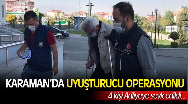 Karaman'da uyuşturucu operasyonu, 4 kişi adliyede