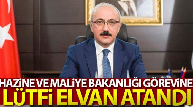 Hazine ve Maliye Bakanlığı'na Lütfi Elvan'ın atanması kararı Resmi Gazete'de