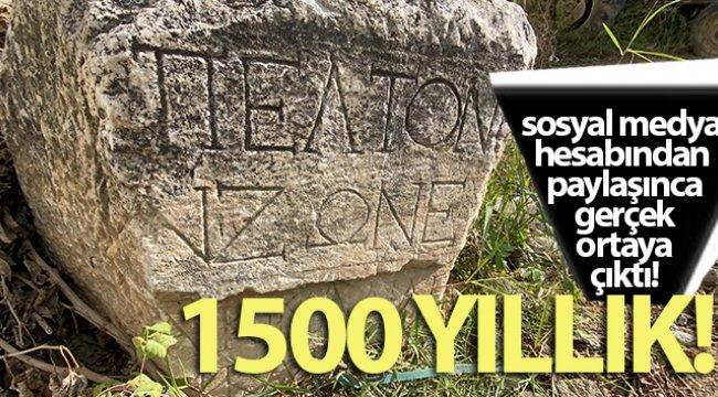 Köy meydanında 1500 yıllık taş
