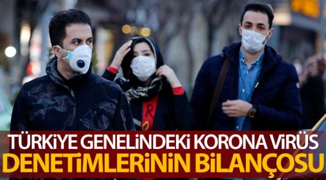 Türkiye genelinde korona virüs denetimi gerçekleştirildi