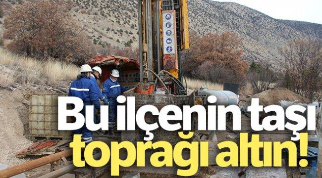 Erzurum'un Olur ilçesinin taşı toprağı altın