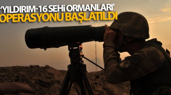 İçişleri Bakanlığınca Bitlis'te 'Yıldırım-16 Sehi Ormanları' operasyonu başlatıldı