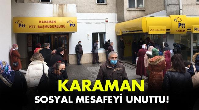 KARAMAN SOSYAL MESAFEYİ UNUTTU!