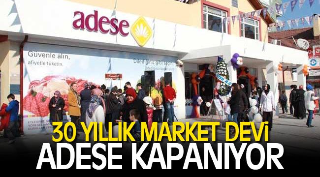 Konya'nın en büyük market zinciri Adese kapanıyor!