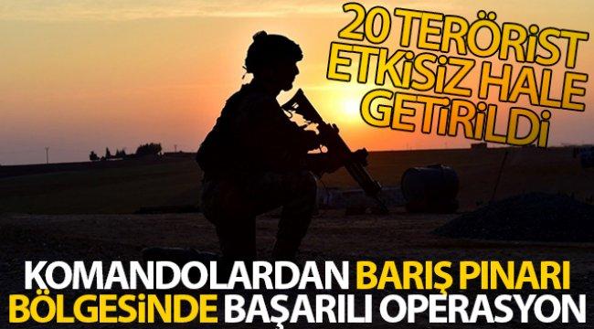 MSB: 'Barış Pınarı bölgesine sızmaya çalışan 20 PKK/YPG'li terörist etkisiz hale getirildi'