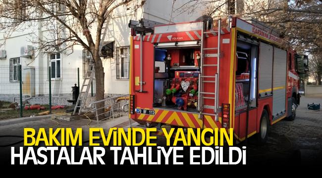 Bakım evinde yangın hastalar tahliye edildi