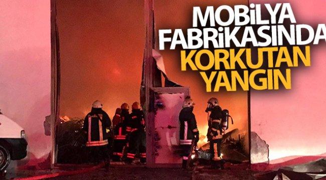 Kayseri'de mobilya fabrikasında korkutan yangın!
