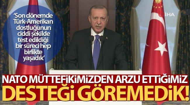 Cumhurbaşkanı Erdoğan: 'NATO müttefikimizden arzu ettiğimiz desteği göremedik'