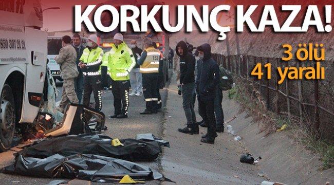 Yolcu otobüsü tıra arkadan çarptı: 3 ölü, 41 yaralı