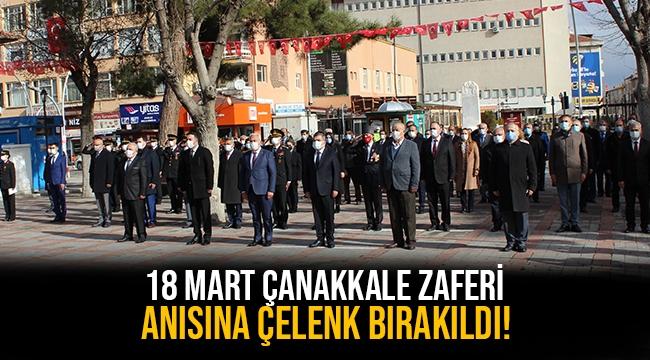 Karaman'da 18 Mart Çanakkale Zaferinin 106. yılı kutlandı.
