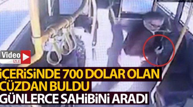 Otobüste içinde 700 dolar olan cüzdan buldu, günlerce sahibini aradı