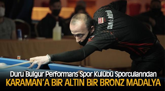 Karaman'a Bir Altın Bir Bronz Madalya
