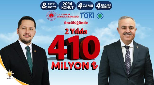 Karaman'a iki yılda 410 milyon tl yatırım yapıldı