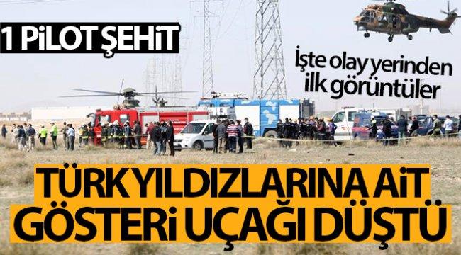 Son dakika! Konya'da askeri gösteri uçağı düştü... 1 pilot şehit
