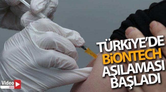 Türkiye'de Biontech aşılaması başladı