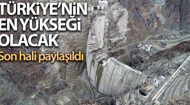 Yusufeli Barajının son hali paylaşıldı