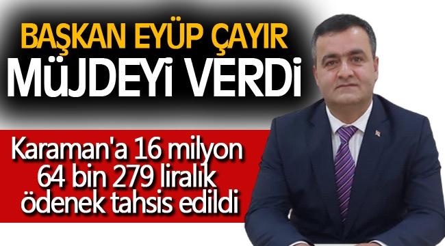 Başkan Çayır; 2021 Yılı Köydes Ödeneği İlimize Hayırlı Olsun