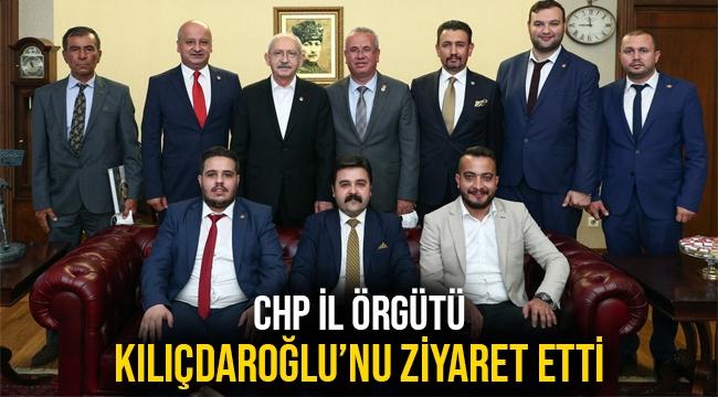 CHP İL ÖRGÜTÜ KILIÇDAROĞLU'NU ZİYARET ETTİ