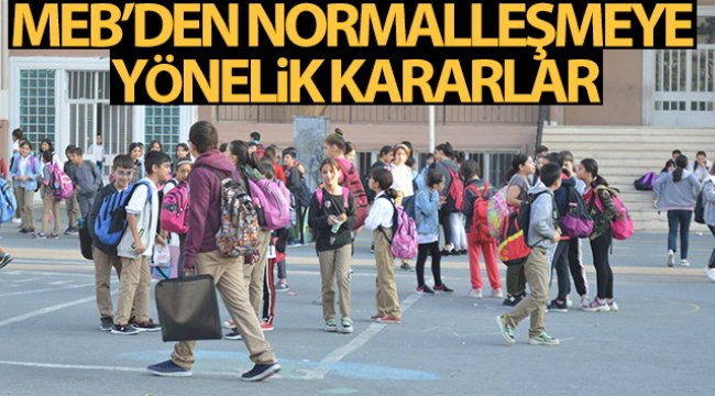 Milli Eğitim Bakanlığı kademeli normalleşmeye yönelik kararlarını açıkladı