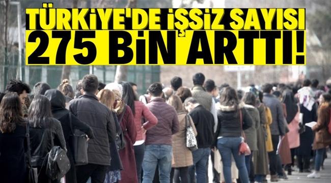 4 milyon 511 bin kişi işsiz!