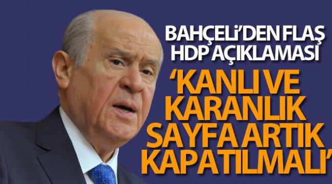 Bahçeli'den flaş HDP açıklaması