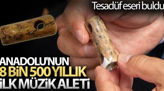 Anadolu'nun 8 bin 500 yıllık ilk müzik aleti Bilecik'te bulundu