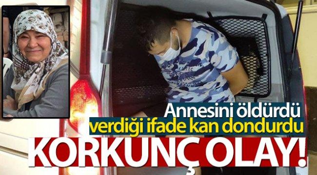 Annesini boğazını keserek öldüren katil evlat saklandığı apartta yakalandı