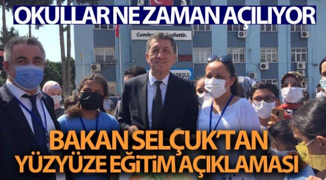 Bakan Selçuk: 'Şu andaki bakış açımız okulların 6 Eylül tarihinde açılması yönünde'