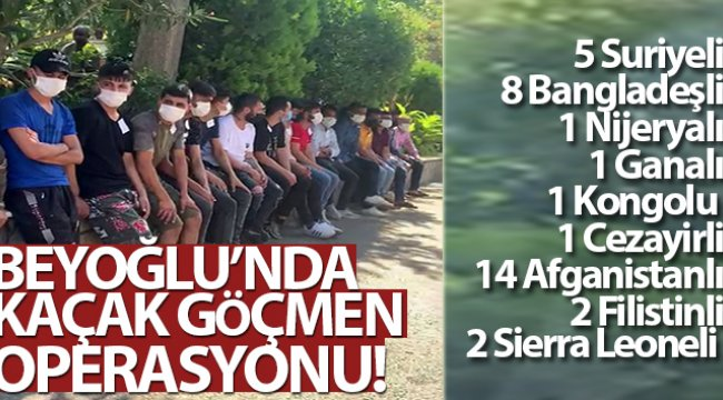 Beyoğlu'nda kaçak göçmen operasyonu: 35 yabancı şahıs yakalandı