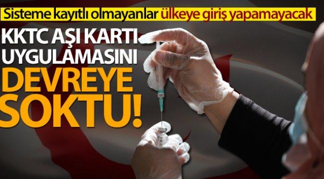 KKTC, aşı kartı uygulamasını devreye soktu