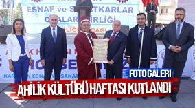 AHİLİK KÜLTÜRÜ HAFTASI KUTLANDI
