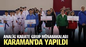 ANALİG KARATE GRUP MÜSABAKALARI KARAMAN'DA YAPILDI