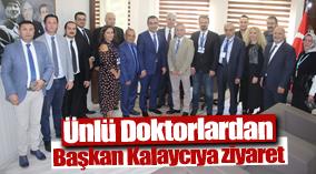 BAŞKAN KALAYCI'YA ORGAN BAĞIŞI HAFTASI ZİYARETİ