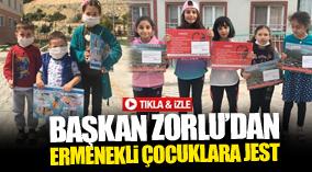 BAŞKAN ZORLU'DAN ERMENEKLİ ÇOCUKLARA JEST !